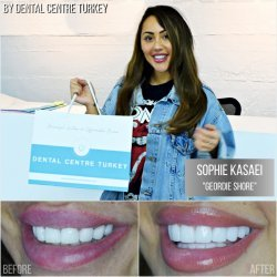 Sophie Kasaei visited Dental Centre Turkey